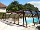 abri piscine asymétrique